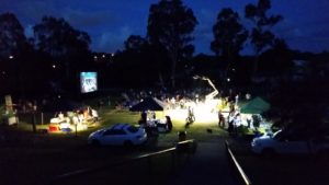 Movie night - always better on a big screen under the stars!