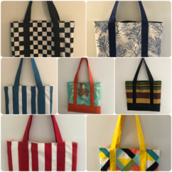 Margaret Cranston's lovely range of bags, totes, bunting and small paintings